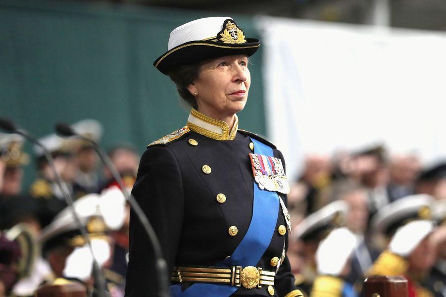La princesse Anne à Portsmouth, le 7 décembre 2017