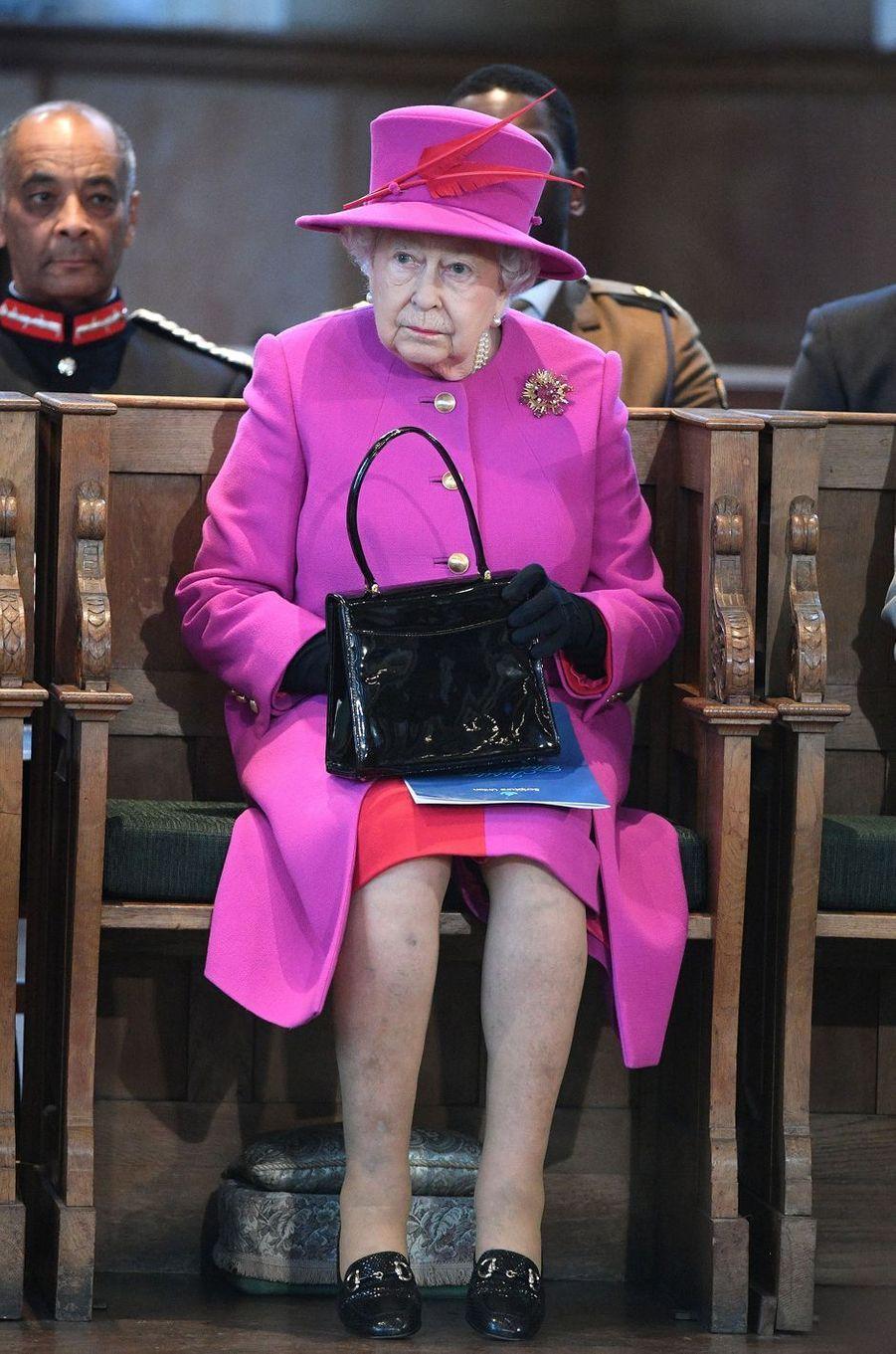 La reine Elizabeth II à Londres, le 6 décembre 2017