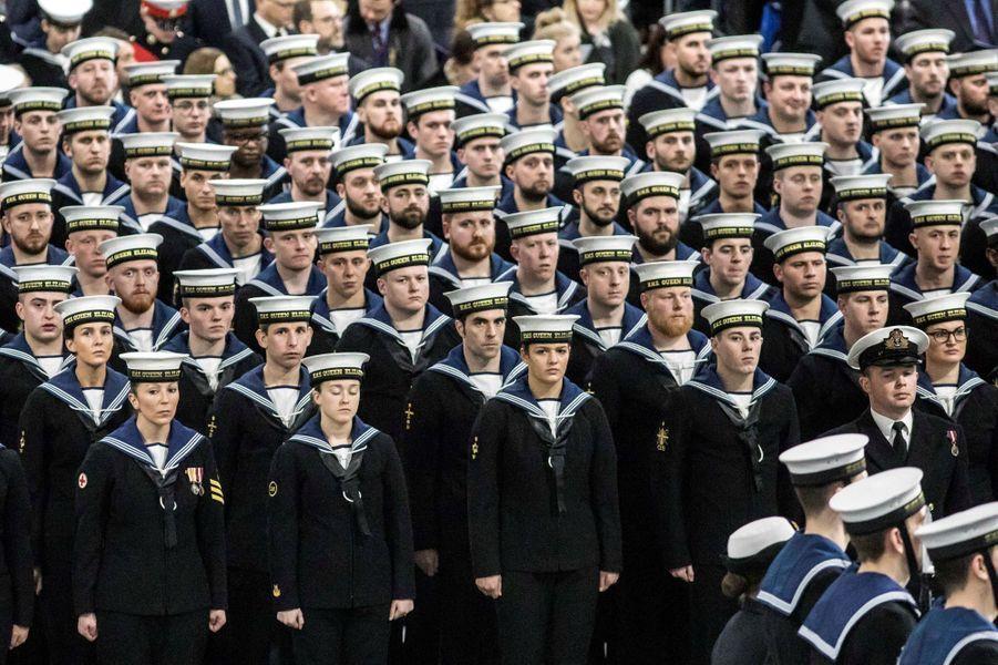 Mise en service du HMS Queen Elizabeth à Portsmouth, le 7 décembre 2017