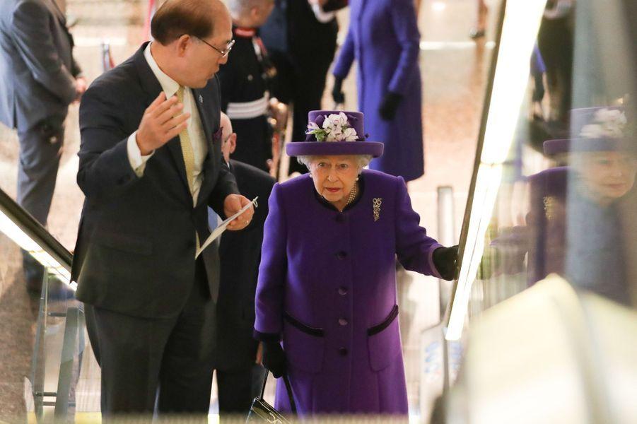 La reine Elizabeth II à l'OMI à Londres, le 6 mars 2018