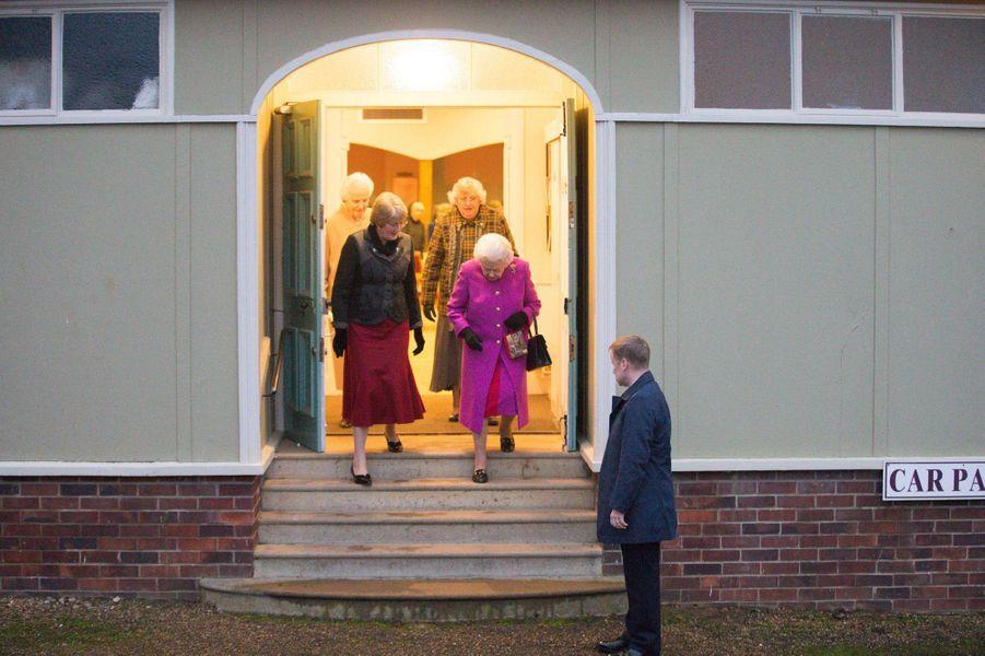 La reine Elizabeth II à West Newton, le 19 janvier 2017
