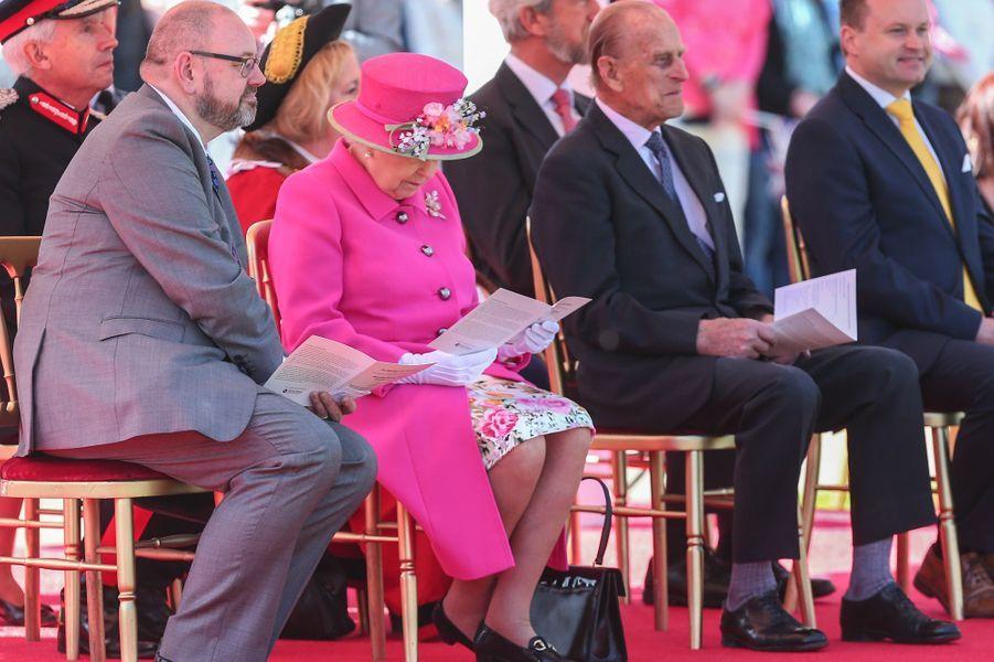 La reine Elizabeth II et le prince Philip à Windsor, le 20 avril 2016