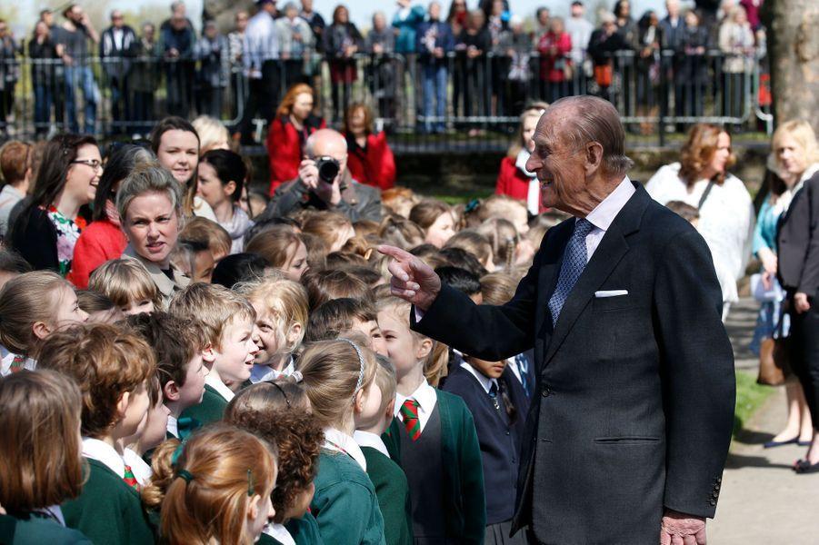 Le prince Philip à Windsor, le 20 avril 2016