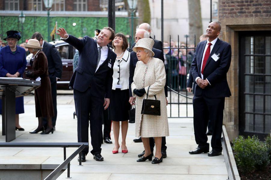 La reine Elizabeth II à Londres, le 28 février 2017
