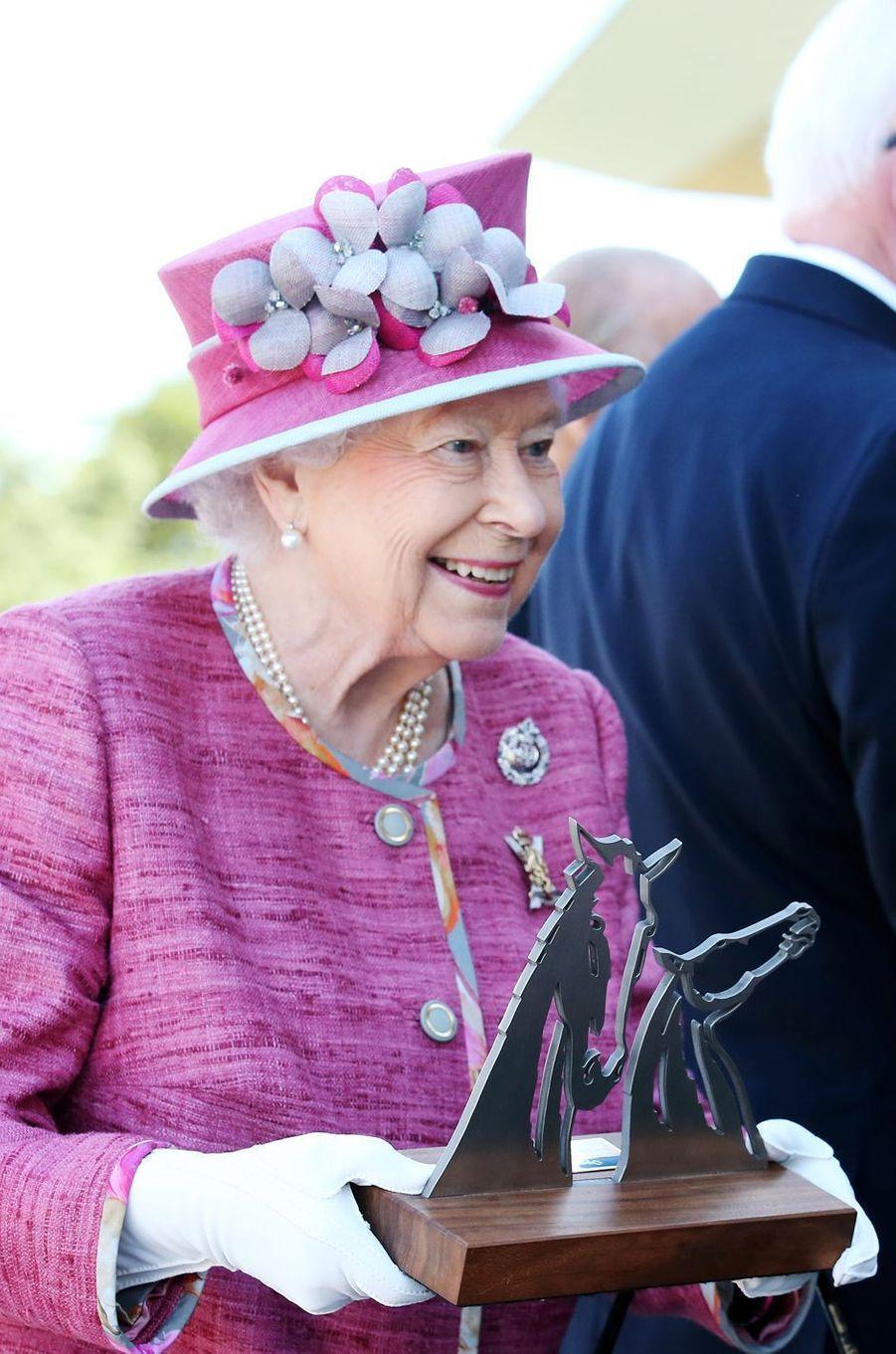 La reine Elizabeth II à Falkirk, le 5 juillet 2017