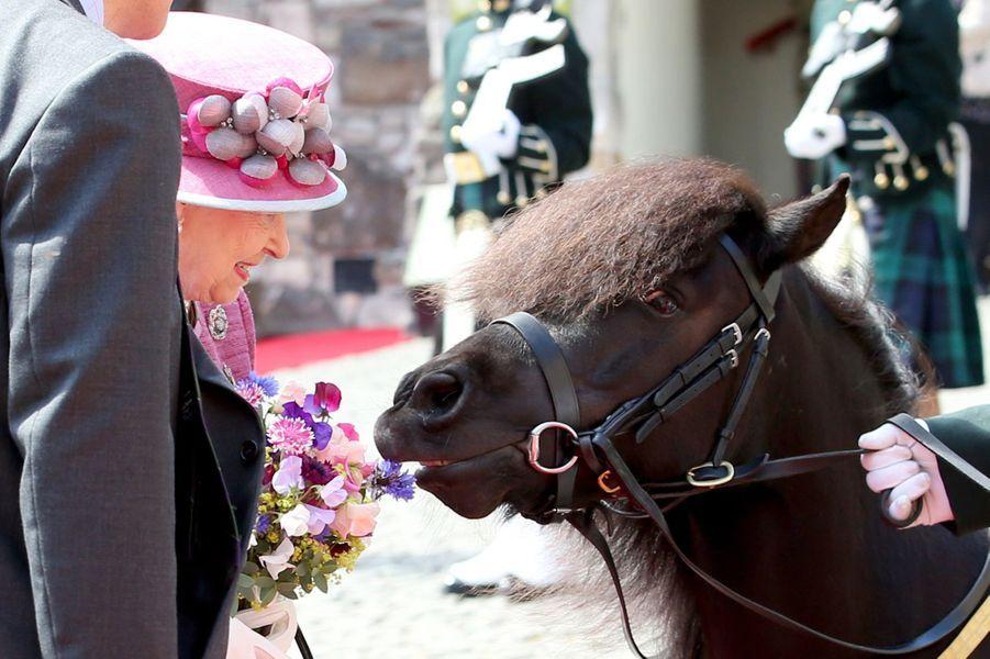 La reine Elizabeth II à Stirling, le 5 juillet 2017