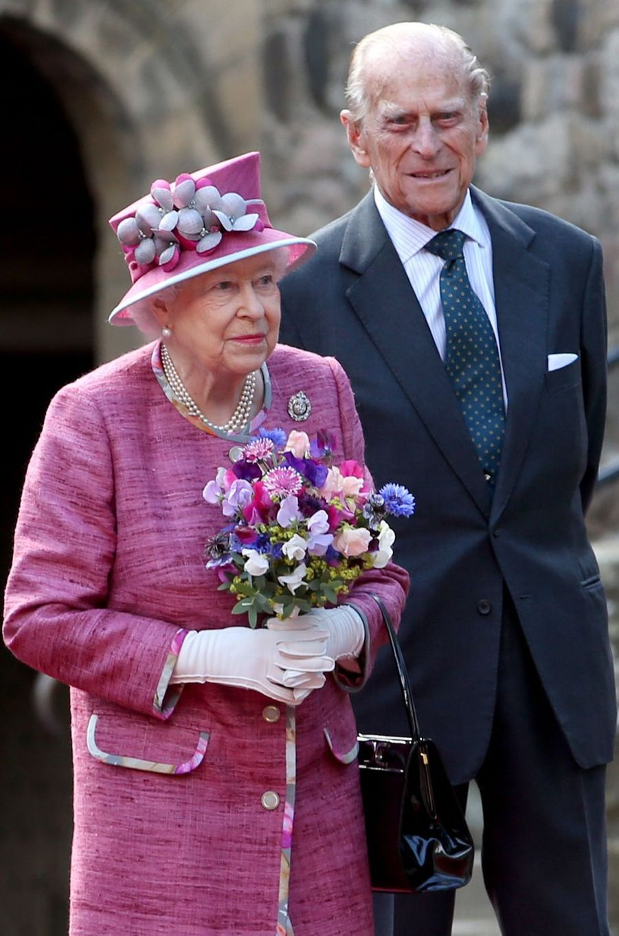 La reine Elizabeth II et le prince Philip à Stirling, le 5 juillet 2017