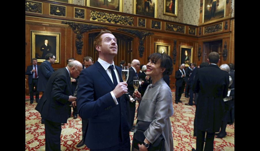Damian Lewis et son épouse Helen McCrory à Windsor