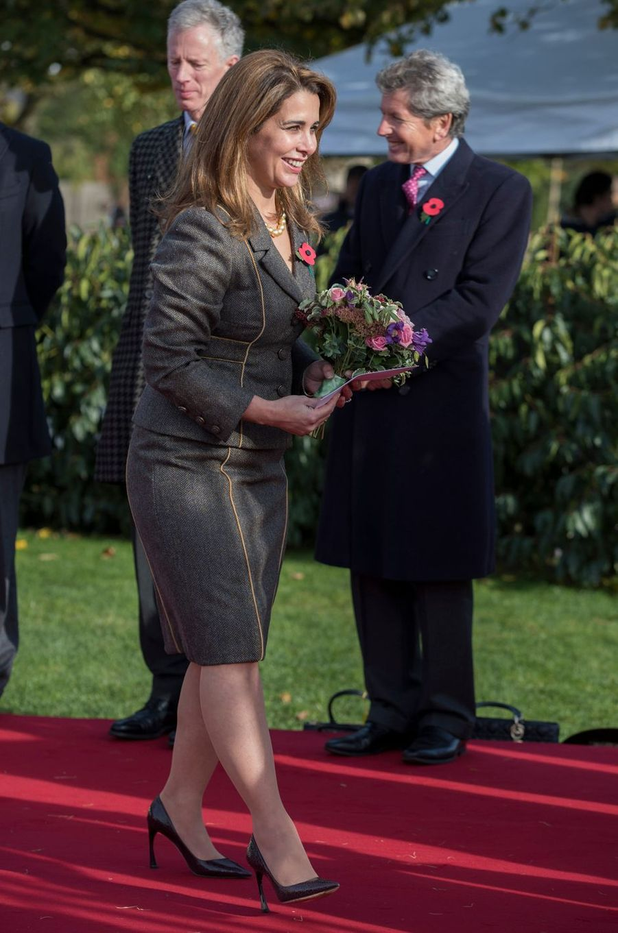 La princesse Haya Bint Al Hussein à Newmarket, le 3 novembre 2016