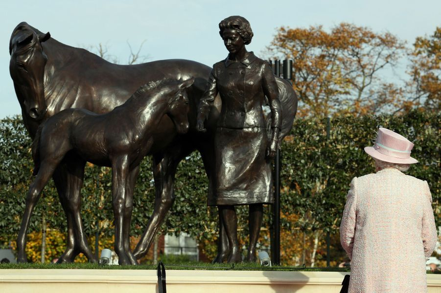 La reine Elizabeth II à Newmarket, le 3 novembre 2016