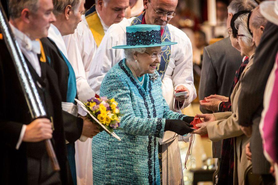 La reine Elizabeth II au Maundy Service du Jeudi saint à Windsor, le 24 mars 2016