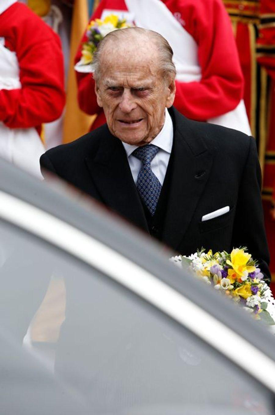 Le prince Philip au Maundy Service du Jeudi saint à Windsor, le 24 mars 2016