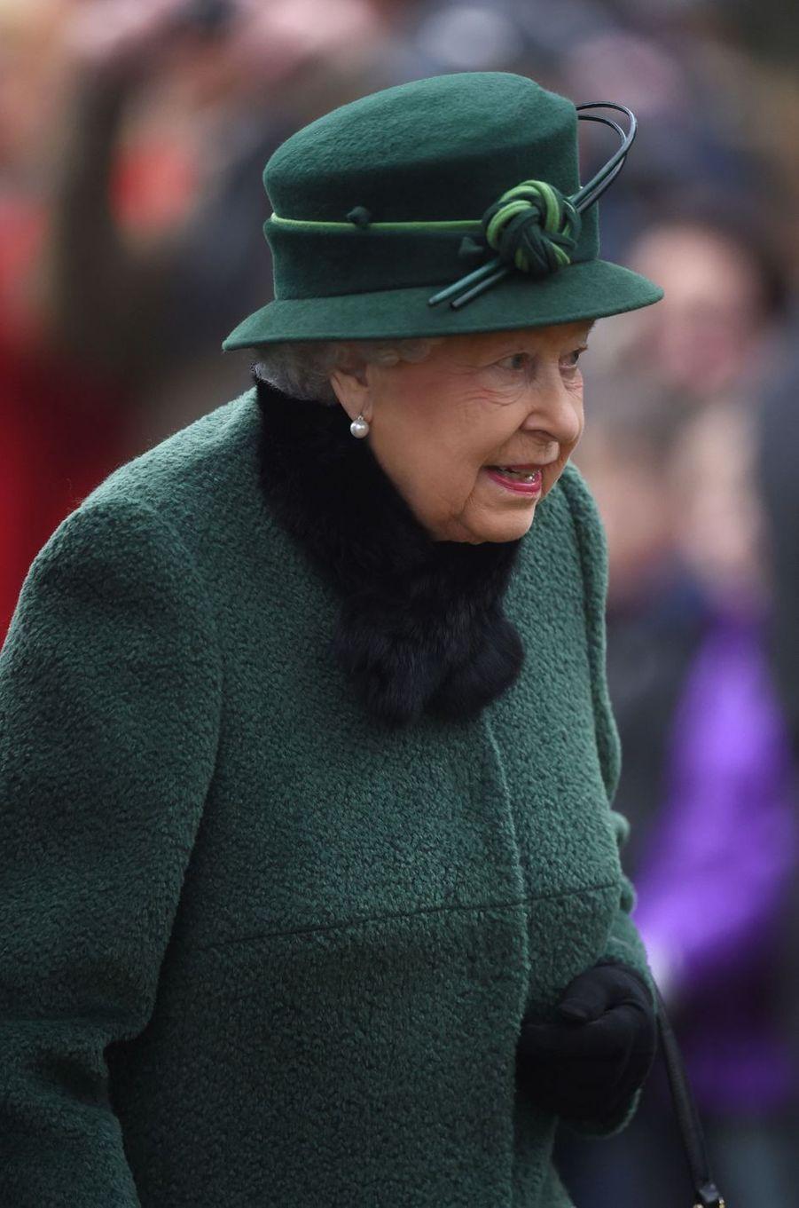La reine Elizabeth II à Castle Rising, le 21 janvier 2018