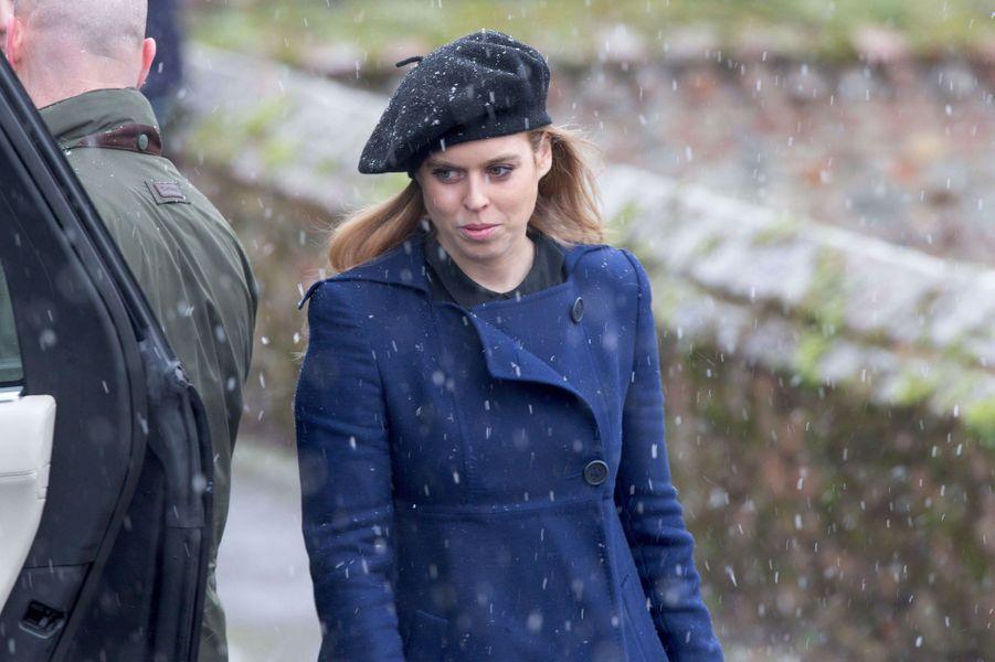 La princesse Beatrice d'York à Castle Rising, le 21 janvier 2018