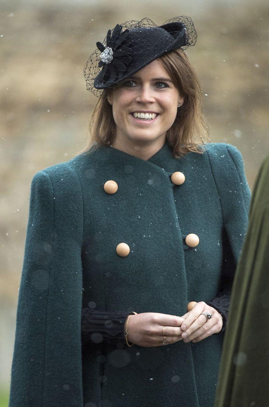 La princesse Eugenie d'York à Castle Rising, le 21 janvier 2018