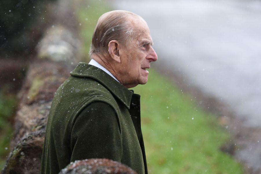 Le prince Philip à Castle Rising, le 21 janvier 2018