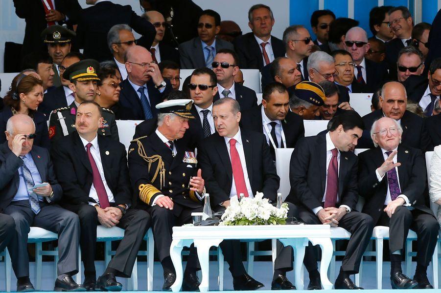 Le prince Charles au Canakkale Martyrs' Memorial à Gallipoli, le 24 avril 2015