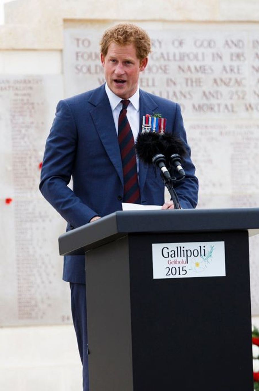 Le prince Harry à Eceabat, le 25 avril 2015