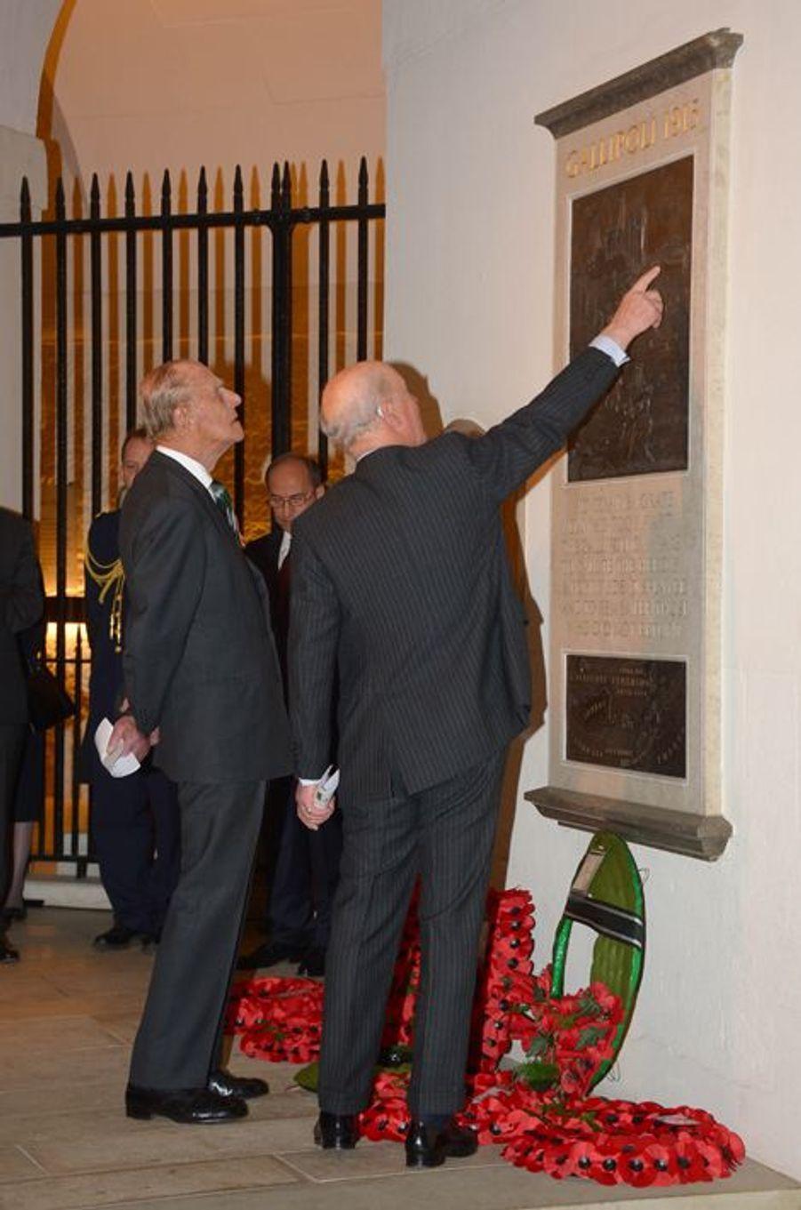 Le prince Philip à la cathédrale St Paul à Londres, le 25 avril 2015