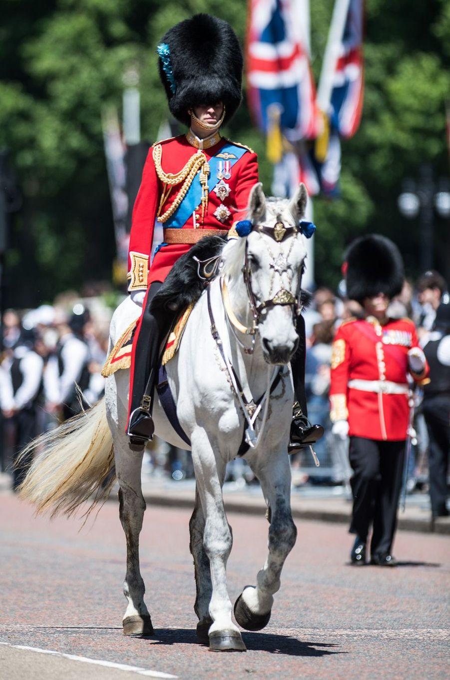 Le prince William en uniforme de Horse Guard à Londres, le 10 juin 2017