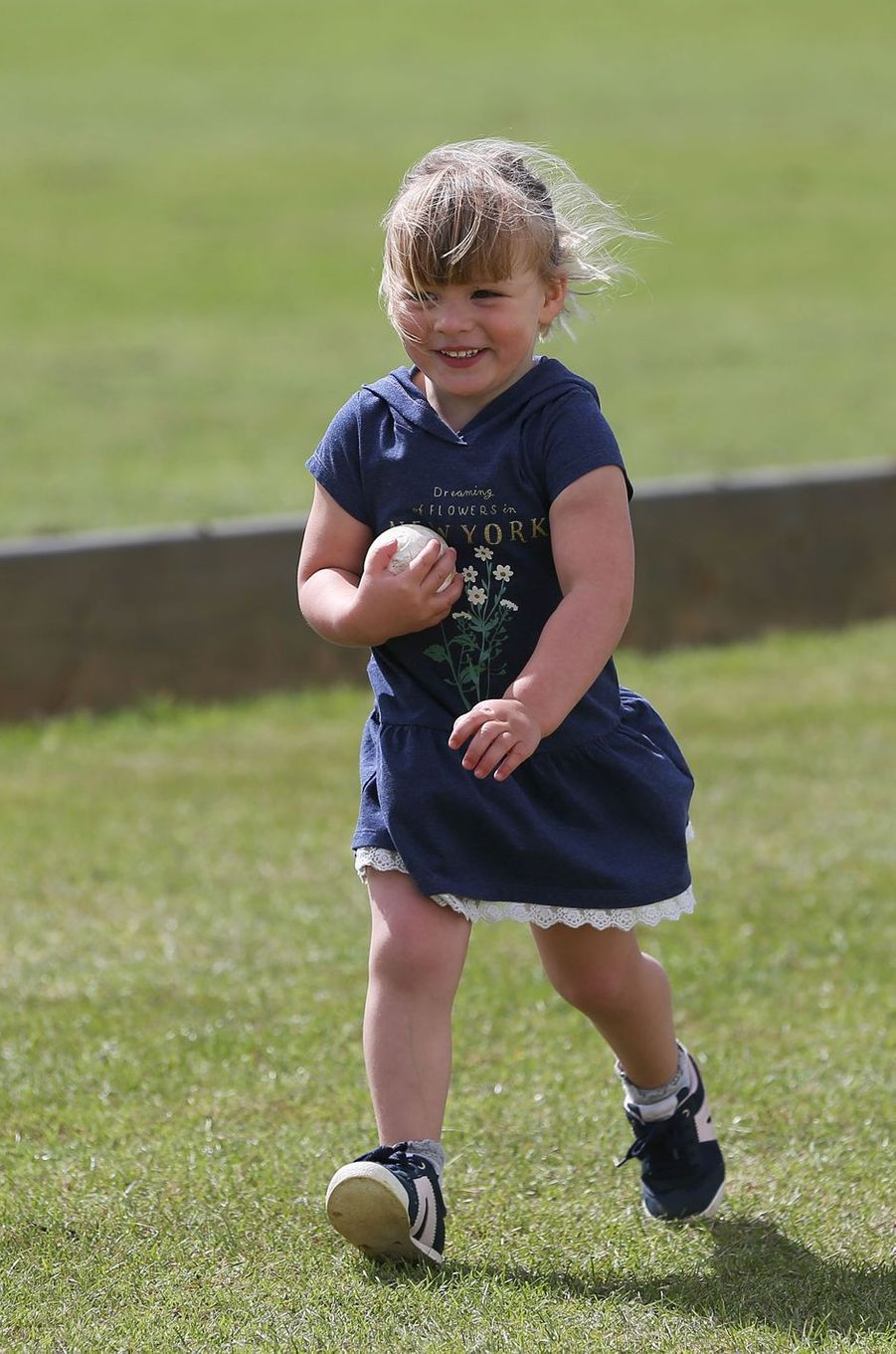 Mia Tindall à Tetbury, le 11 juin 2017