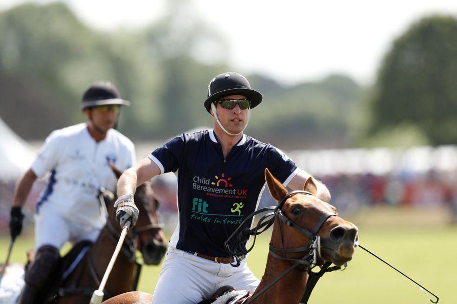 Le prince William à Tetbury, le 11 juin 2017
