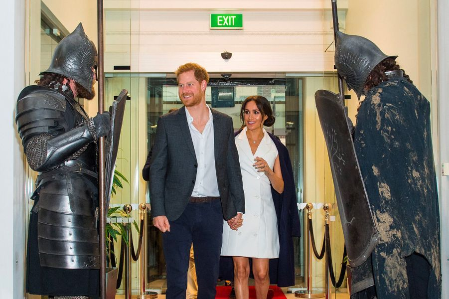 Meghan et Harry au centre Courtenay Creative, à Wellington, lundi 29 octobre