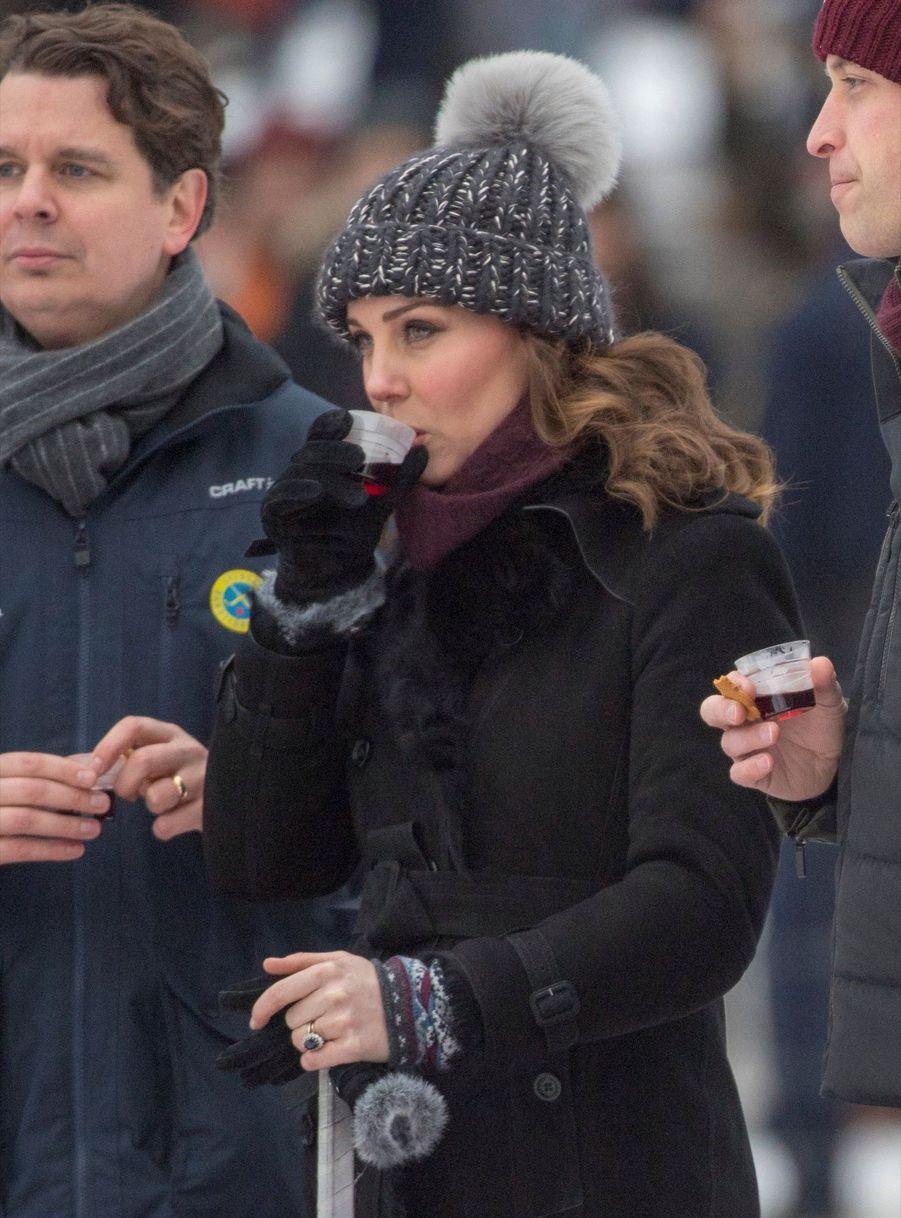 Kate Et William Dans Le Froid De L'hiver Suédois 11