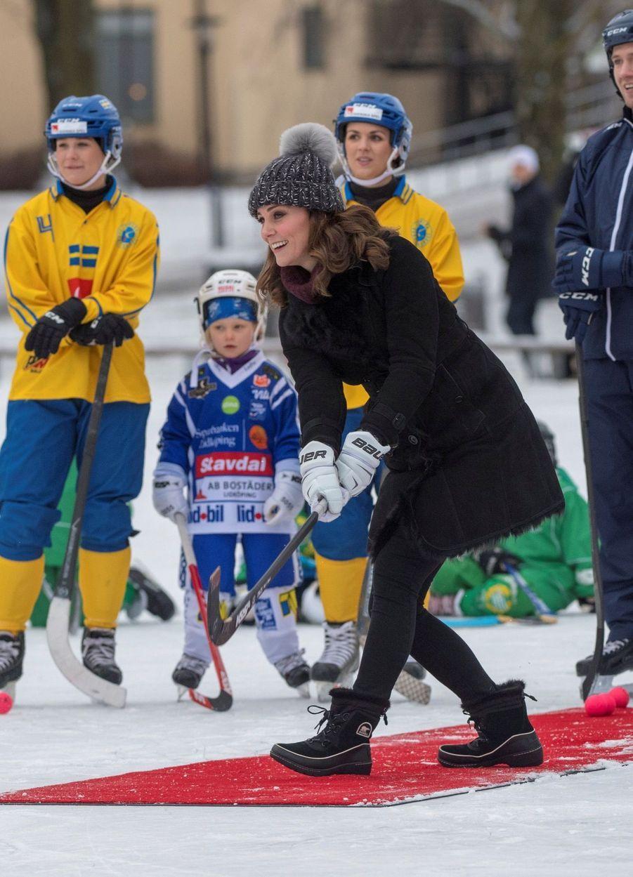 Kate Et William Dans Le Froid De L'hiver Suédois 21