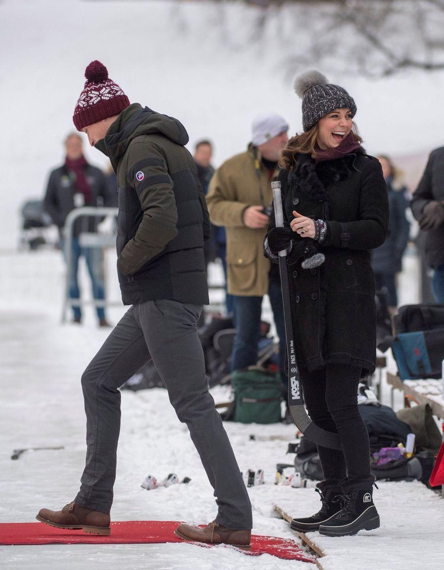 Kate Et William Dans Le Froid De L'hiver Suédois 25