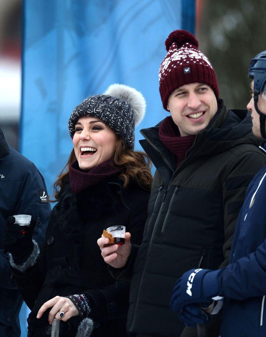 Kate Et William Dans Le Froid De L'hiver Suédois 5