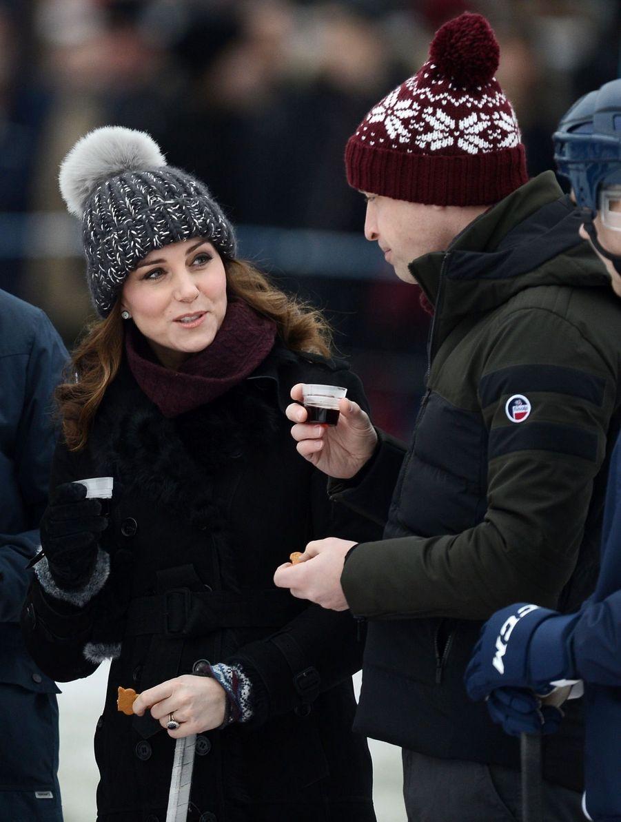 Kate Et William Dans Le Froid De L'hiver Suédois 7