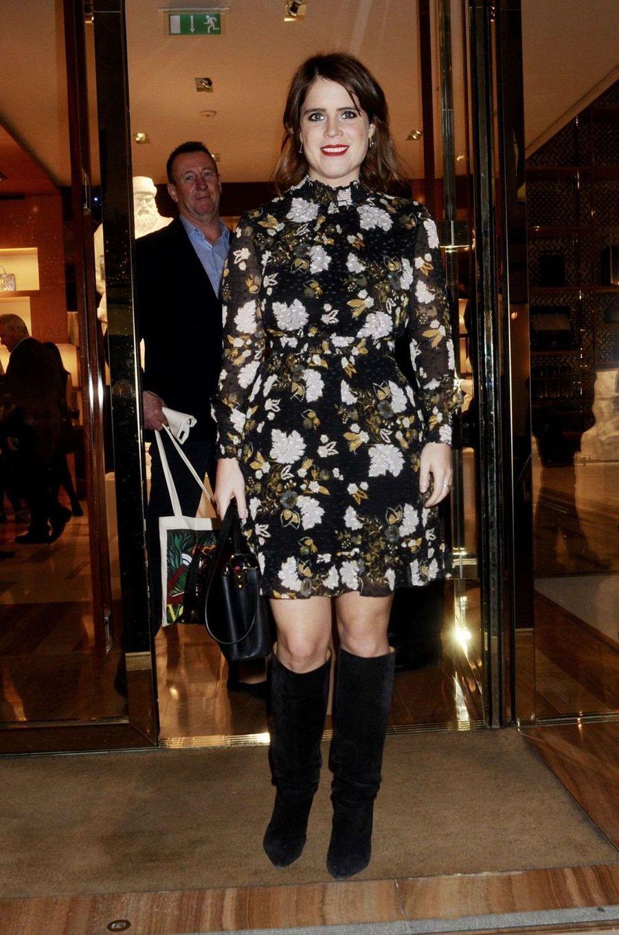 La princesse Eugenie d'York à Londres, le 21 novembre 2017