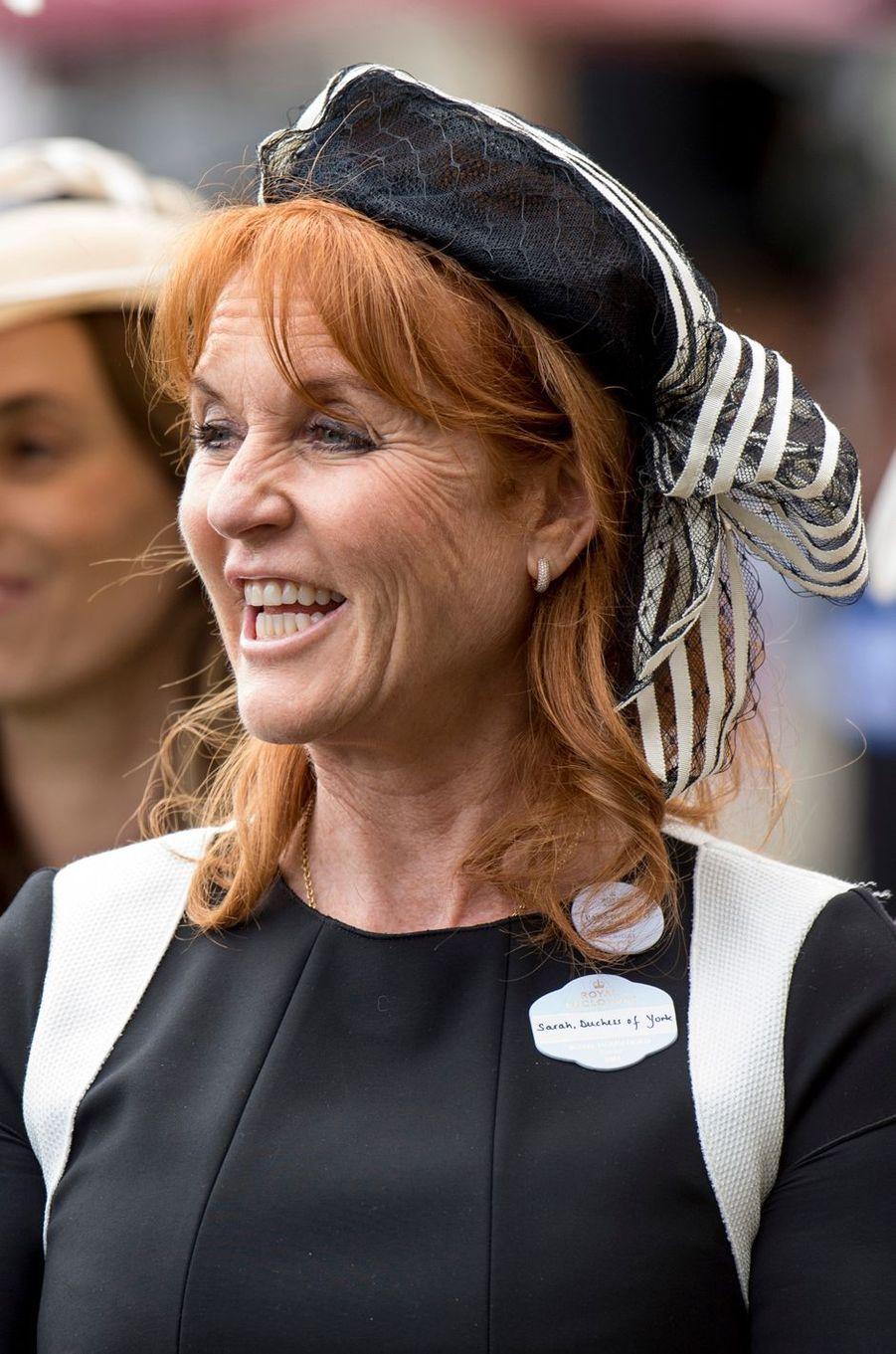 Sarah Ferguson à Ascot, le 23 juin 2017