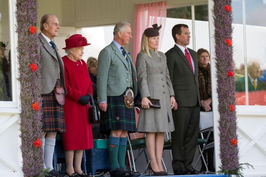 La famille royale britannique au Braemar Gathering, le 5 septembre 2015