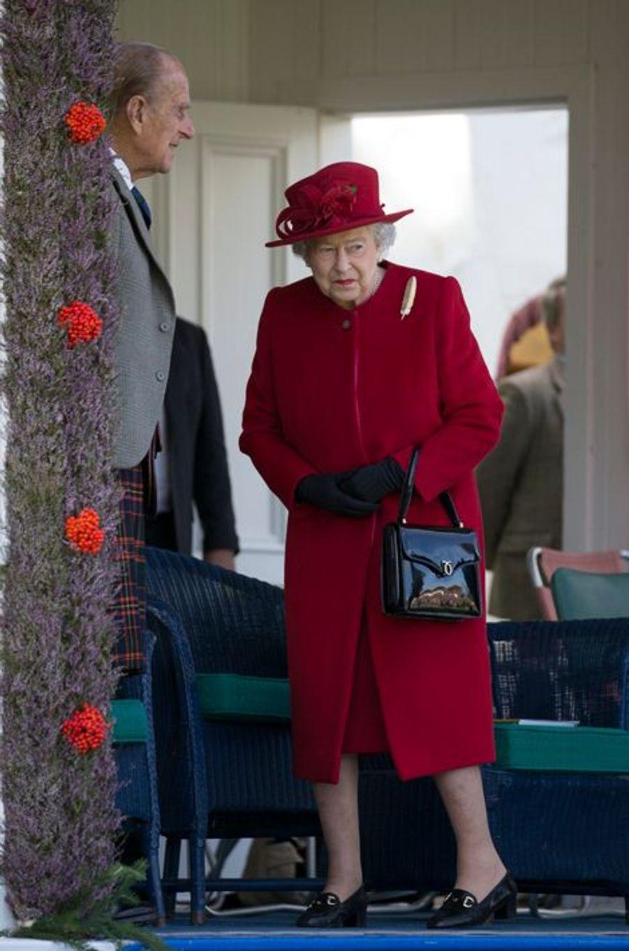 La reine Elizabeth II et le prince Philip au Braemar Gathering, le 5 septembre 2015