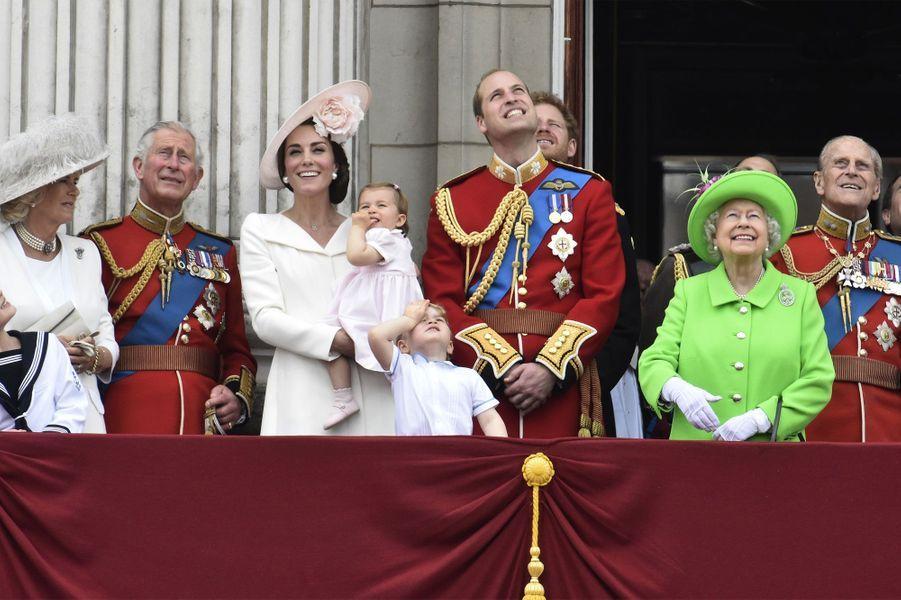 Au balcon avec la reine