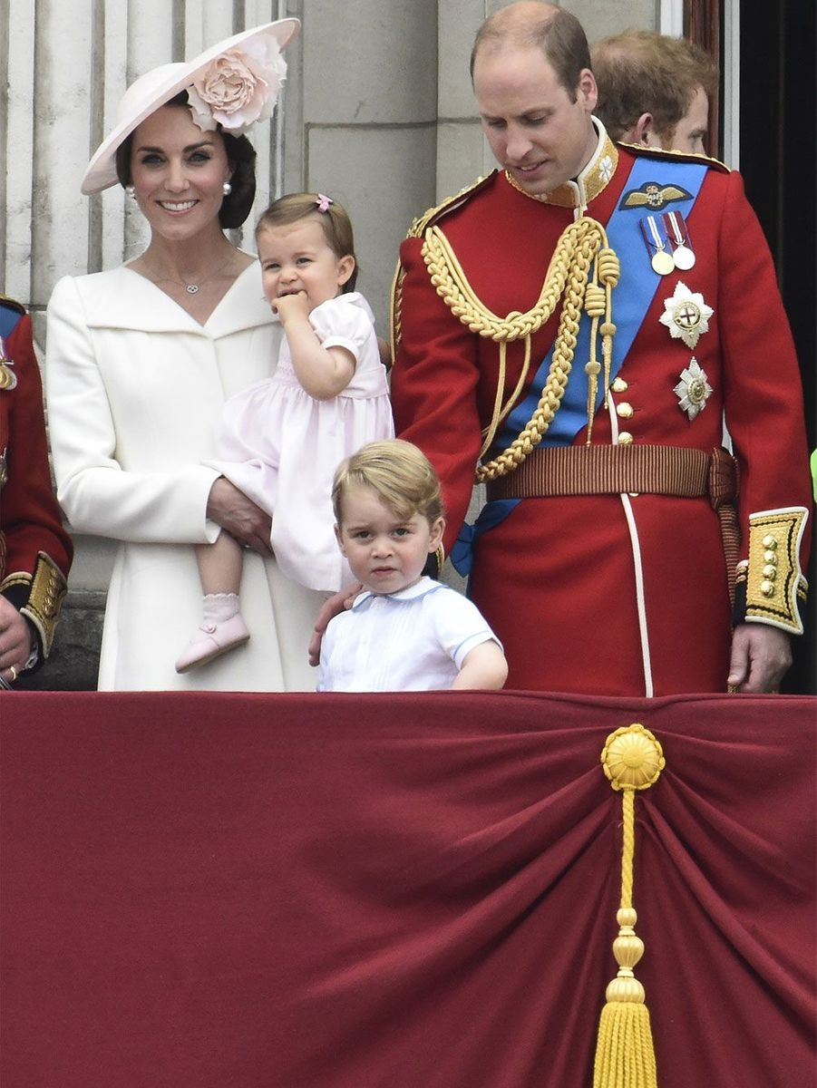 Kate, William, Charlotte et George