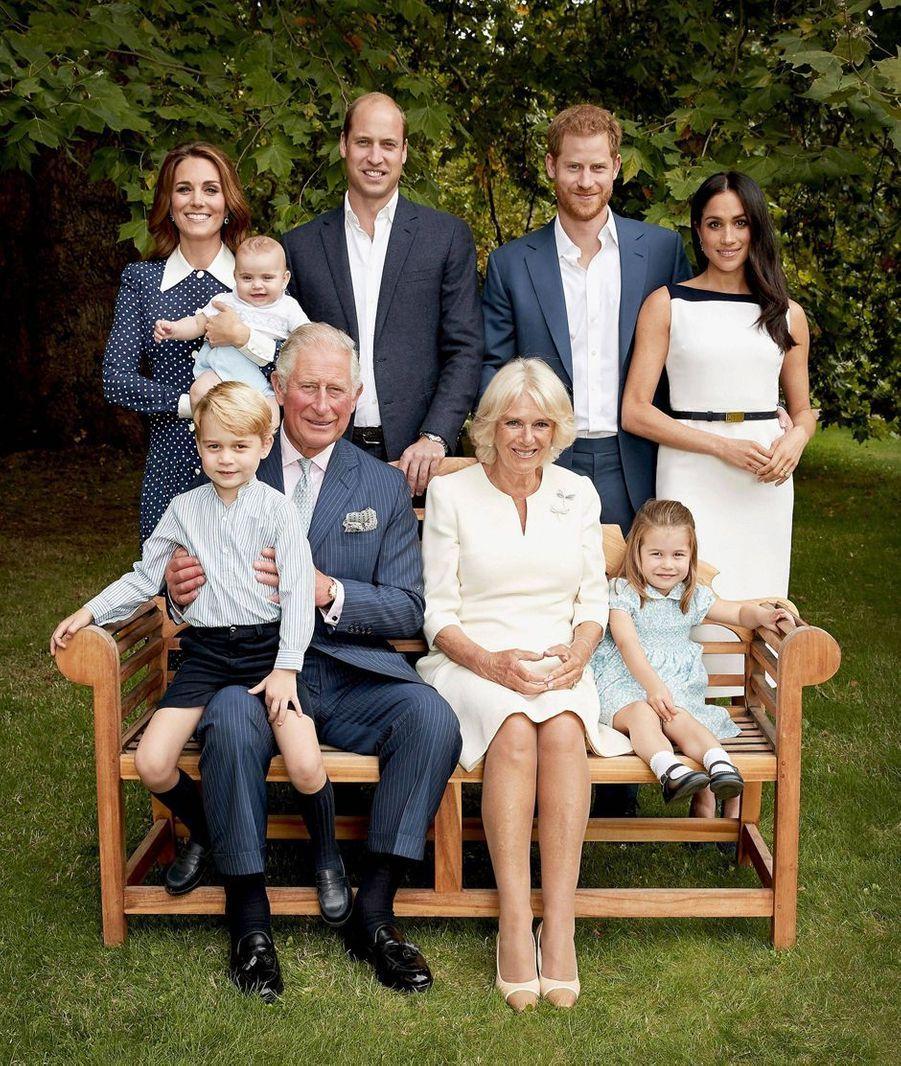 Portrait officiel du prince Charles en famille pour ses 70 ans, le 14 novembre 2018. Photo réalisée le 5 septembre 2018
