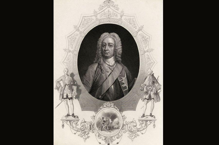 George II succéda à son père et régna jusqu'en 1760. Un fils qui ne s'entendait pas du tout avec son père mais avait pourtant en commun avec lui son goût pour la gent féminine. Pendant longtemps, il fut considéré avec dédain par les historiens, notamment à cause de son avarice, de son impulsivité et de ses nombreuses maîtresses. Mais il fut aussi un roi amoureux. George II était profondément épris de son épouse Caroline d'Ansbach, qu'il avait épousée par amour et non par devoir, grâce à son père qui avait toujours refusé qu'il soit contraint à un mariage arrangé. Avec elle, il eut neuf enfants. Lorsque sa femme tomba malade, il resta à côté d'elle, au point de contracter lui aussi la variole. Mais tous deux se rétablirent. Juste avant la mort de Caroline en 1737, les relations avec son fils Frédéric – qui soutenait l'opposition - se détériorèrent. A un point tel que le prince de Galles fut banni du royaume. George II est également connu pour être le dernier souverain britannique à avoir mené lui-même une armée.