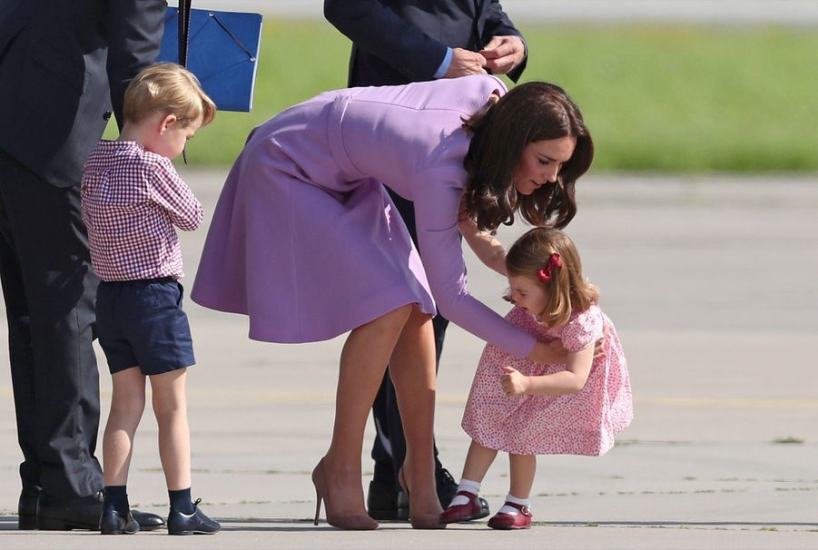 George, Charlotte, Kate Et William Disent Au Revoir À L'Allemagne 11