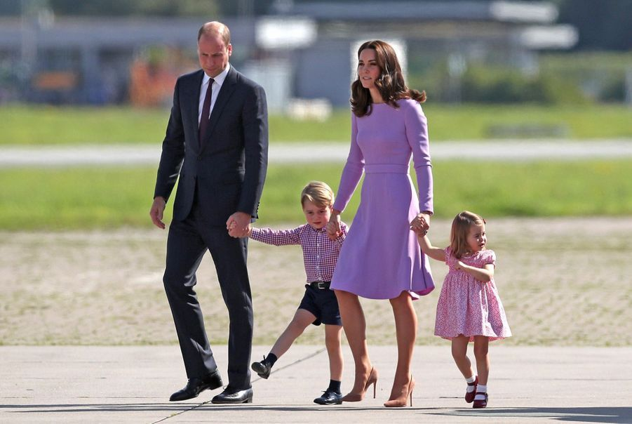 George, Charlotte, Kate Et William Disent Au Revoir À L'Allemagne 12