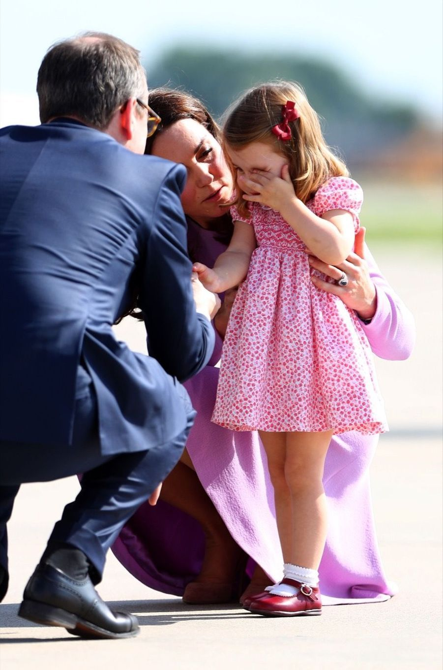 George, Charlotte, Kate Et William Disent Au Revoir À L'Allemagne 23