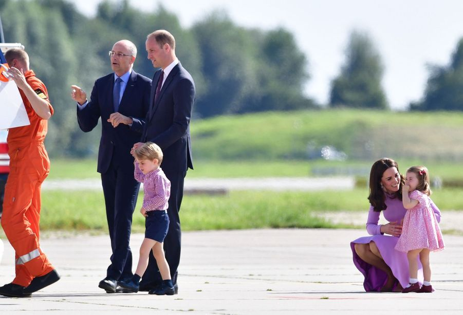 George, Charlotte, Kate Et William Disent Au Revoir À L'Allemagne 3
