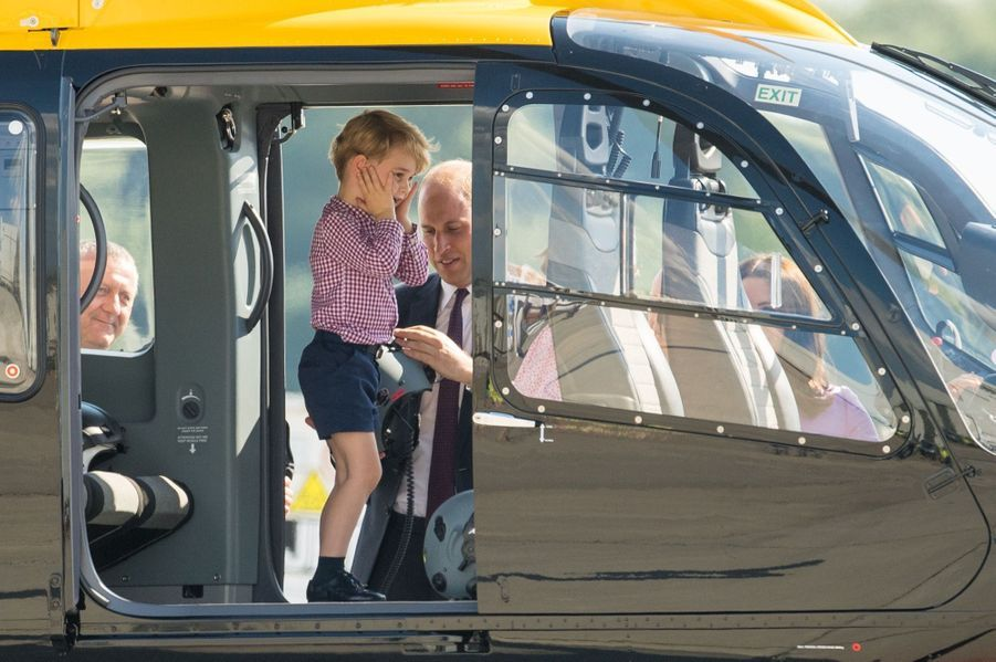 George, Charlotte, Kate Et William Disent Au Revoir À L'Allemagne 31