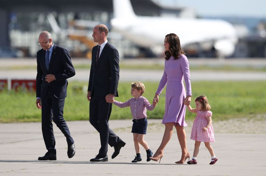 George, Charlotte, Kate Et William Disent Au Revoir À L'Allemagne 4