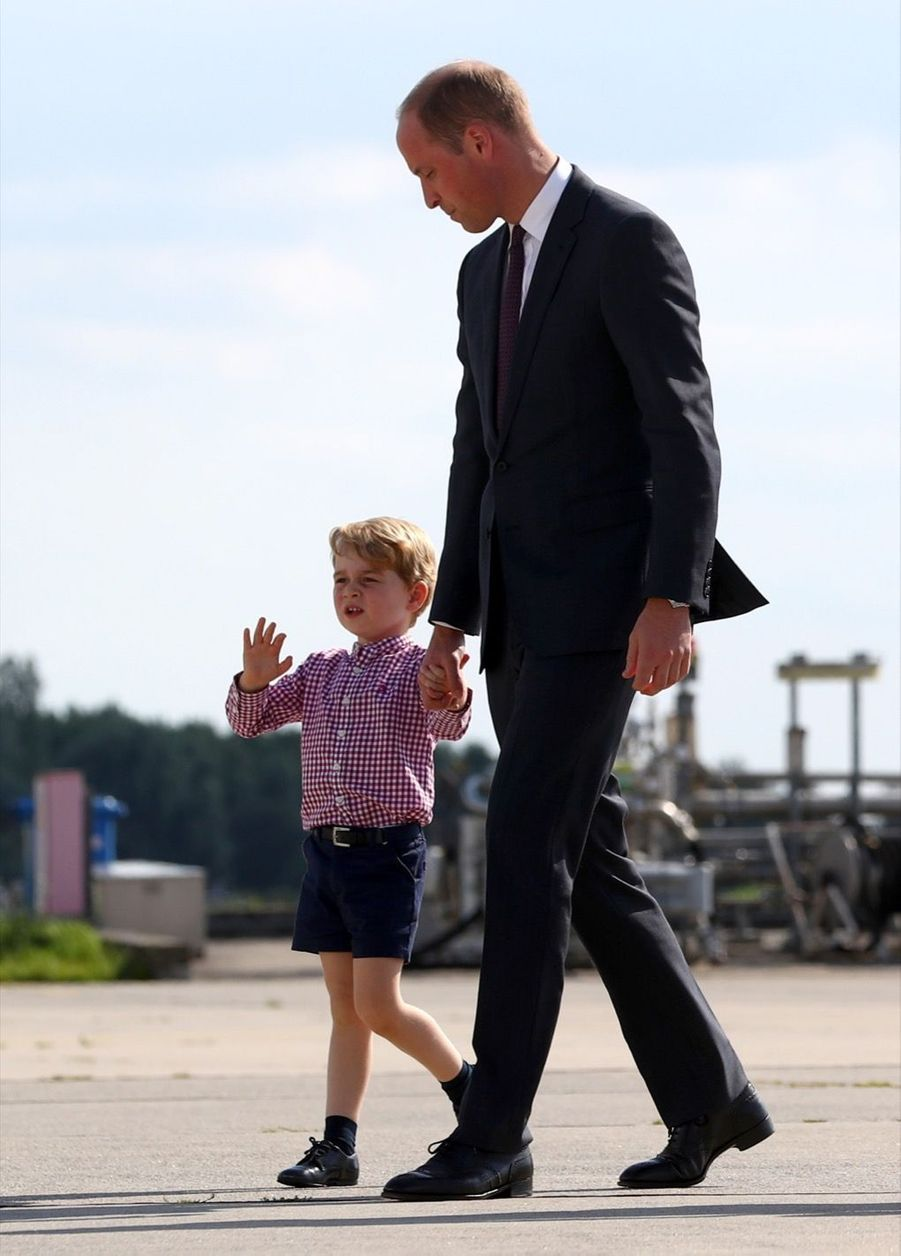 George, Charlotte, Kate Et William Disent Au Revoir À L'Allemagne 42