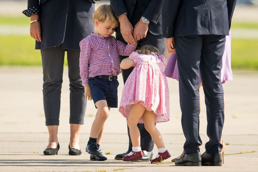 George, Charlotte, Kate Et William Disent Au Revoir À L'Allemagne 48