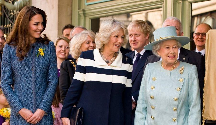 Février : Kate, Camilla et Elizabeth, pour une virée entre filles