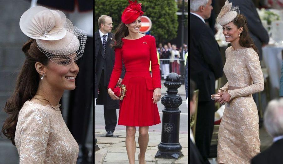 Juin : Kate au Jubilé de la Reine